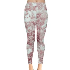 Pink Colored Flowers Leggings  by dflcprints