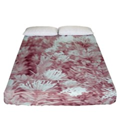 Pink Colored Flowers Fitted Sheet (california King Size) by dflcprints