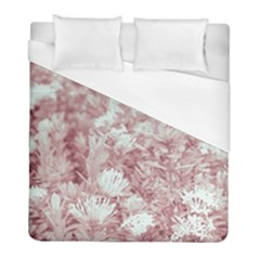 Pink Colored Flowers Duvet Cover (full/ Double Size) by dflcprints