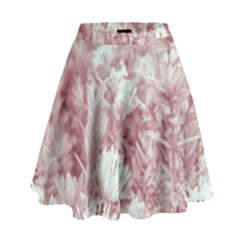 Pink Colored Flowers High Waist Skirt by dflcprints