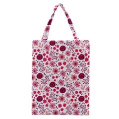 Red Floral Seamless Pattern Classic Tote Bag by TastefulDesigns