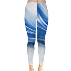 Line Light Strip Background 47114 3840x2400 Leggings  by amphoto