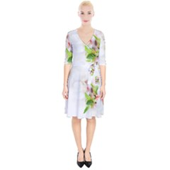 Fragility Flower Petals Tenderness Leaves  Wrap Up Cocktail Dress