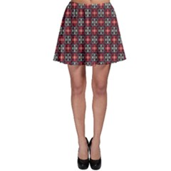 Cells White Black Gray  Skater Skirt by amphoto