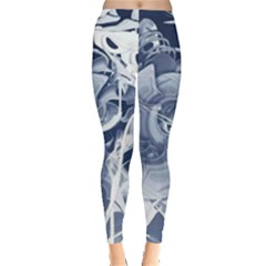 Abstraction Drawing Imagination Pattern Light Brightness Leggings  by amphoto