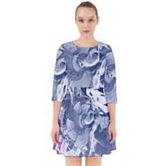 Abstraction Drawing Imagination Pattern Light Brightness Smock Dress by amphoto