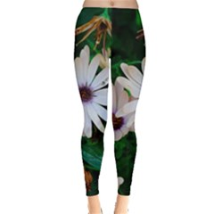 Garden Flowers Leggings  by amphoto