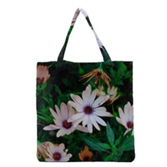 Garden Flowers Grocery Tote Bag by amphoto