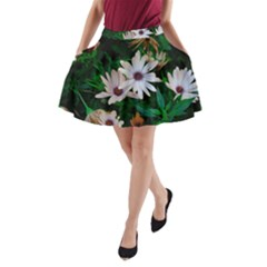 Garden Flowers A Line Pocket Skirt