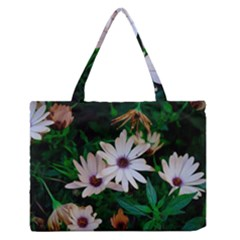 Garden Flowers Zipper Medium Tote Bag by amphoto