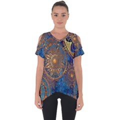 Abstract Pattern R 24 Resize Cut Out Side Drop Tee by amphoto