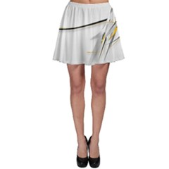 White Abstract  Skater Skirt
