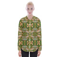 Star Shines On Earth For Peace In Colors Womens Long Sleeve Shirt by pepitasart
