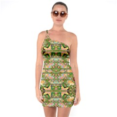 Star Shines On Earth For Peace In Colors One Soulder Bodycon Dress by pepitasart