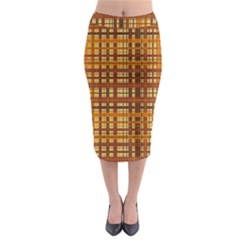 Plaid Pattern Midi Pencil Skirt by linceazul
