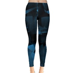 Abstraction Shapes Dark Background  Leggings  by amphoto