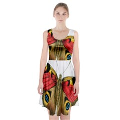 Butterfly Bright Vintage Drawing Racerback Midi Dress