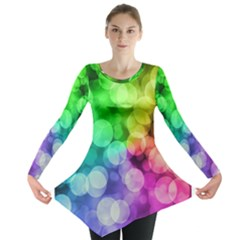 Rainbow Bokeh Long Sleeve Tunic  by LustStarrr