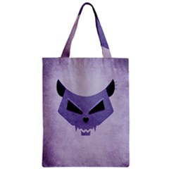 Purple Evil Cat Skull Classic Tote Bag by CreaturesStore