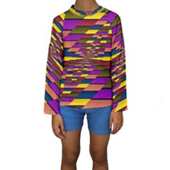 Autumn Check Kids  Long Sleeve Swimwear