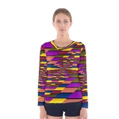 Autumn Check Women s Long Sleeve Tee by designworld65