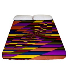 Autumn Check Fitted Sheet (california King Size)