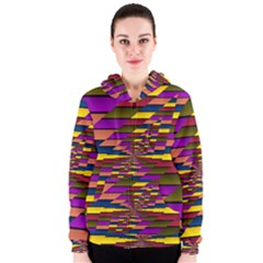 Autumn Check Women s Zipper Hoodie