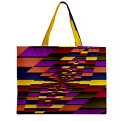 Autumn Check Zipper Mini Tote Bag by designworld65