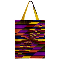 Autumn Check Zipper Classic Tote Bag