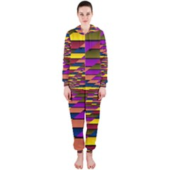 Autumn Check Hooded Jumpsuit (ladies)  by designworld65