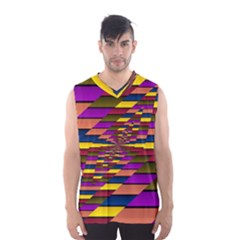 Autumn Check Men s Basketball Tank Top