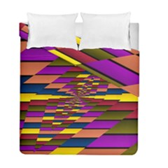 Autumn Check Duvet Cover Double Side (full/ Double Size)