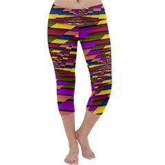 Autumn Check Capri Yoga Leggings