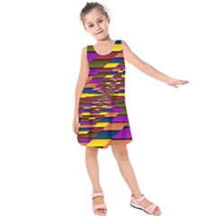 Autumn Check Kids  Sleeveless Dress