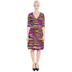 Autumn Check Wrap Up Cocktail Dress
