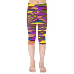 Autumn Check Kids  Capri Leggings