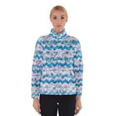 Baby Blue Chevron Grunge Winterwear