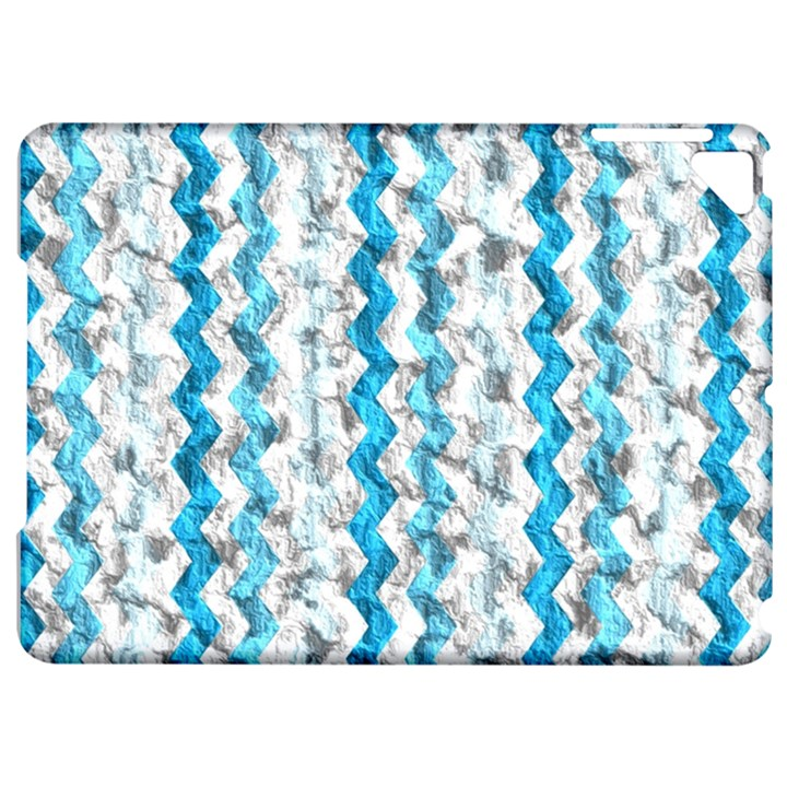 Baby Blue Chevron Grunge Apple iPad Pro 9.7   Hardshell Case