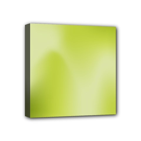 Green Soft Springtime Gradient Mini Canvas 4  X 4  by designworld65