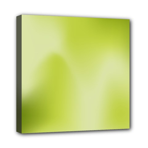 Green Soft Springtime Gradient Mini Canvas 8  X 8  by designworld65