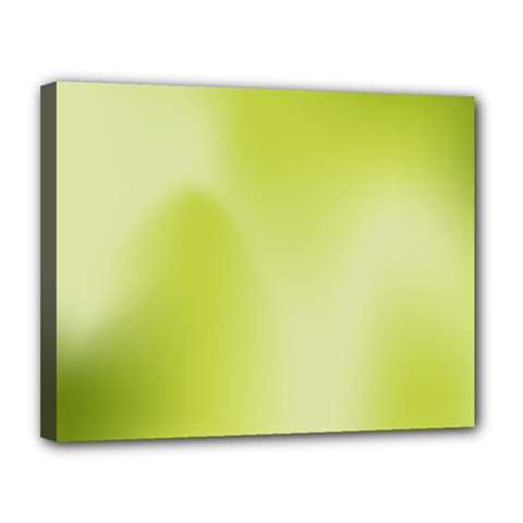 Green Soft Springtime Gradient Canvas 14  X 11