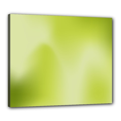 Green Soft Springtime Gradient Canvas 24  X 20