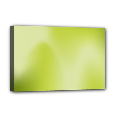Green Soft Springtime Gradient Deluxe Canvas 18  X 12   by designworld65