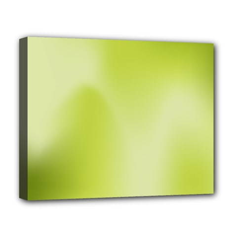 Green Soft Springtime Gradient Deluxe Canvas 20  X 16   by designworld65