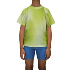 Green Soft Springtime Gradient Kids  Short Sleeve Swimwear