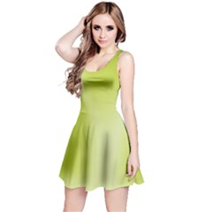 Green Soft Springtime Gradient Reversible Sleeveless Dress