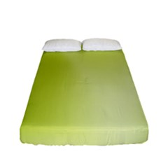Green Soft Springtime Gradient Fitted Sheet (Full/ Double Size)
