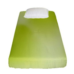 Green Soft Springtime Gradient Fitted Sheet (Single Size)