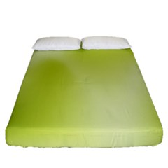 Green Soft Springtime Gradient Fitted Sheet (Queen Size)