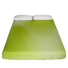 Green Soft Springtime Gradient Fitted Sheet (king Size)